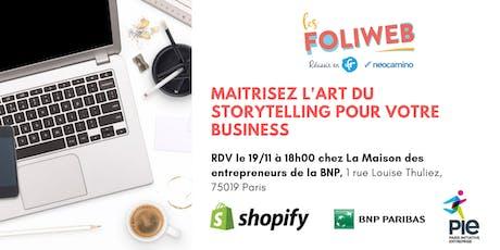 [Paris] Maitrisez l'art du storytelling pour votre business billets