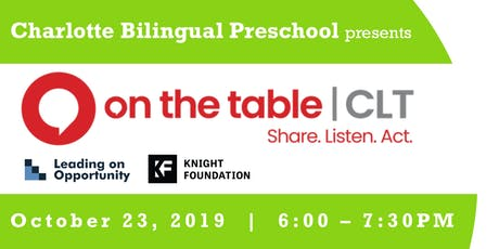 Charlotte Bilingual Preschool presents On the Table | Finding Home tickets