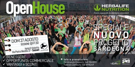 Open House - Nuovo progetto Sardegna - Herbalife Nutrition tickets