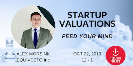STARTUP VALUATIONS WITH ALEX MORSINK tickets