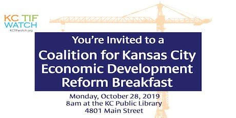 Coalition for Kansas City Economic Development Reform Breakfast tickets