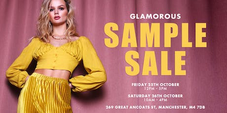 GLAMOROUS POP UP SAMPLE SALE tickets