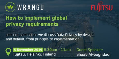 How to implement global privacy requirements in Finland - Breakfast Seminar tickets