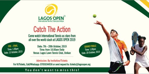 Lagos Open Tennis Championiship 2019