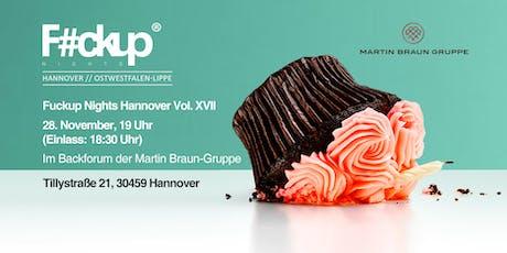 Fuckup Night Hannover VOL XVII Tickets