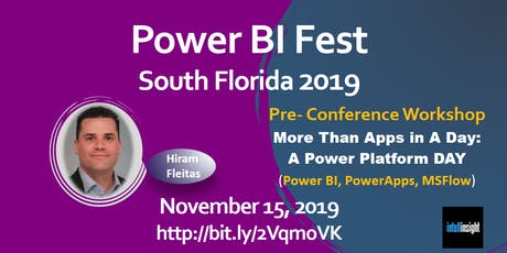 More Than Apps in A Day: A Power Platform (Power BI, PowerApps, MSFlow) Day tickets
