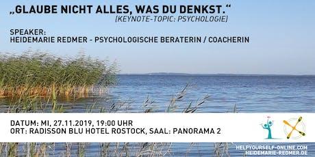 """Heidemarie Redmer - """"Glaube nicht alles, was du denkst"""" (Keynote: Psychologie) Tickets"""