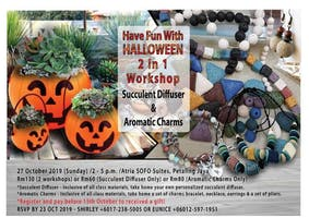 Halloween 2 in 1 Workshop (Succulent Diffuser & Aromatic Charms)