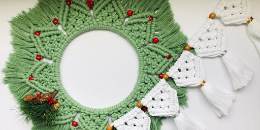 Festive Macrame Workshop - Wreath or Garland