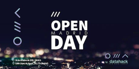 Open Day Datahack Madrid entradas