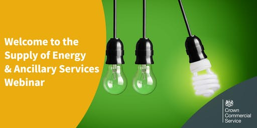 Welcome to Supply of Energy and Ancillary Services (RM6011) - Webinar