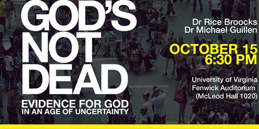 God's Not Dead with Dr Rice Broocks at Virginia University