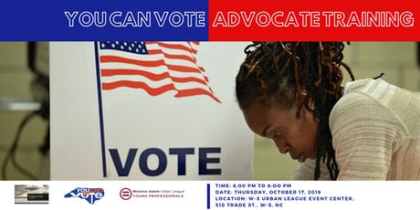 You Can Vote - Advocacy Training tickets
