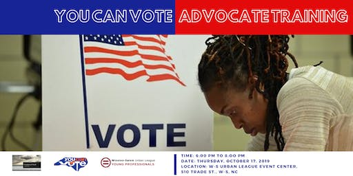 You Can Vote - Advocacy Training