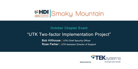 UTK Two-factor Implementation Project - HDI Smoky Mountain Chapter Event tickets