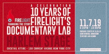 Firelight Media Presents: Documentary Lab 10th Anniversary Celebration tickets