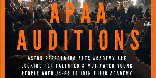 APAA AUDITIONS