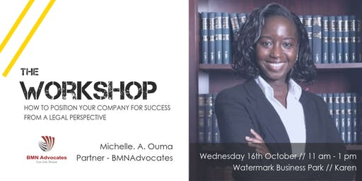 Workshop // How to position your company for success from a Legal perspective