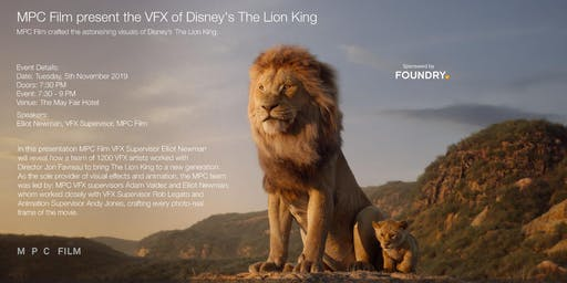 MPC Film present the VFX of Disney's The Lion King