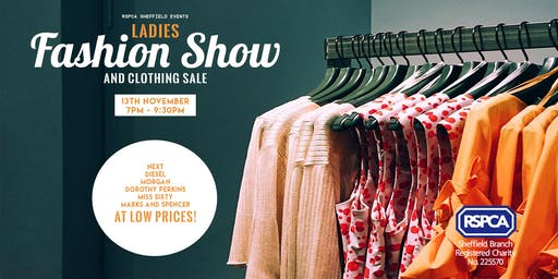 RSPCA Sheffield Presents: Ladies Fashion Show & Clothing Sale!