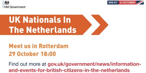 UK Nationals Outreach Event - Rotterdam