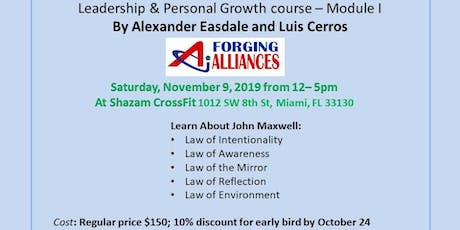Leadership & Personal Growth Course John Maxwell philosophy I tickets