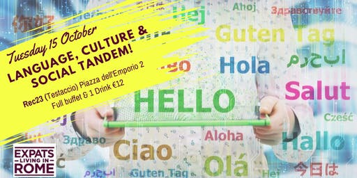 Tuesday Language, Culture & Social Tandem!