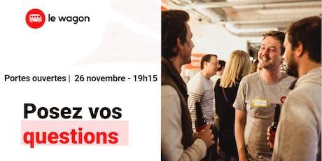 Session d'information le Wagon Bordeaux le 26 novembre - Apprendre à coder tickets