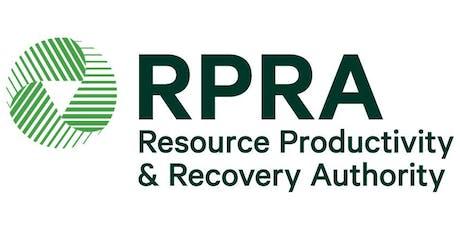 RPRA Consultation on Stewardship Ontario's proposed MHSW Wind-Up Plan tickets