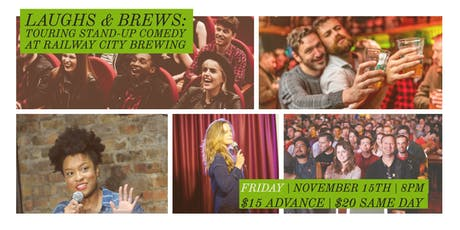 Laughs and Brews at Railway City Brewing Company tickets