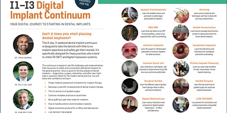 I1-3 - Digital Implant Continuum (Sept/Oct 2020) tickets