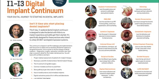 I1-3 - Digital Implant Continuum (Sept/Oct/Dec 2020)
