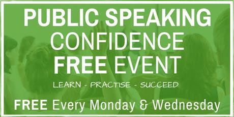 Public Speaking & Presentation Skills - FREE Friendly Weekly London Classes tickets
