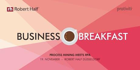 Business Breakfast in Düsseldorf: Process Mining meets RPA Tickets