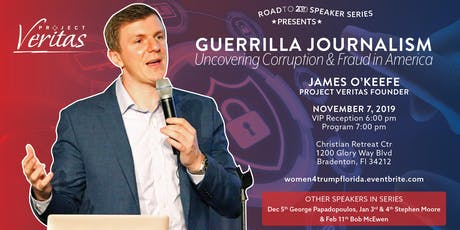 Road to 2020 Speaker Series - James O'Keefe, Project Veritas tickets