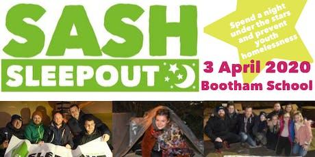 SASH Sleepout 2020 - York's original and best sleepout! tickets