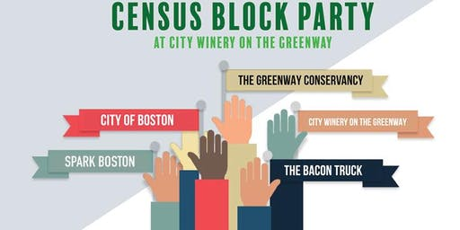 Census Block Party at City Winery on the Greenway