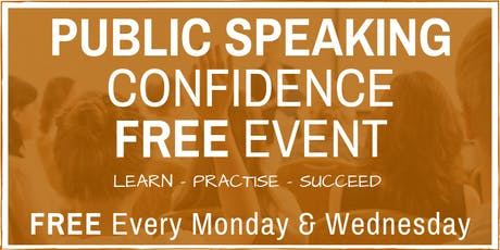 Public Speaking & Presentation Skills - FREE Friendly Weekly Workshops tickets