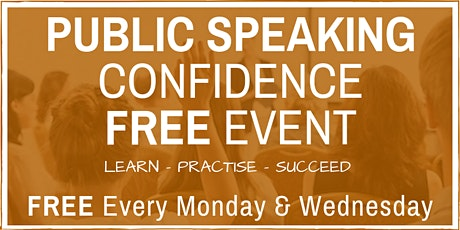 Public Speaking & Presentation Skills: FREE Friendly ONLINE Weekly Events billets