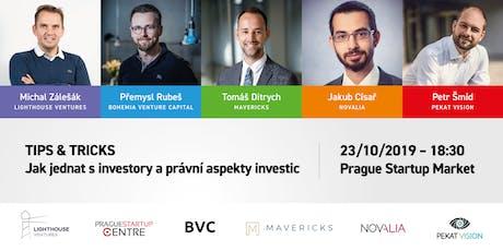 Tips & Tricks: Jak jednat s investory a právní aspekty investic tickets
