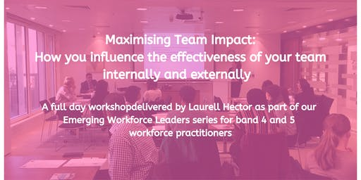 Maximising Team Impact: How you influence the effectiveness of your team internally and externally with Laurell Hector