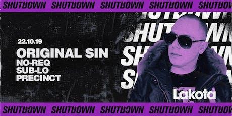 Shutdown: Original Sin tickets
