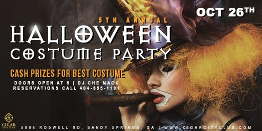 Cigar City Club 5th Annual Halloween Costume Party