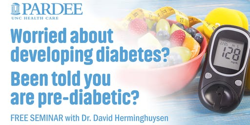 Worried about developing diabetes? Been told you are pre-diabetic?