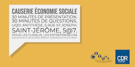 Causerie économie sociale billets