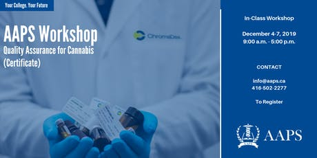 Quality Assurance for Cannabis Workshop (Certificate) tickets
