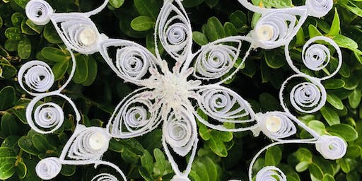 Quilled Paper Snowflake Tree Ornament