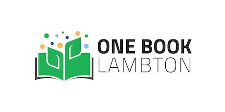 One Book Lambton Book Announcement tickets