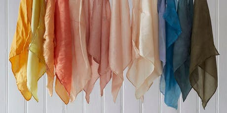 Natural dye silk and linen ribbon workshop tickets