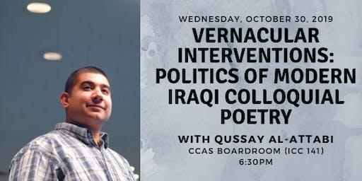Vernacular Interventions: Politics of Modern Iraqi Colloquial Poetry